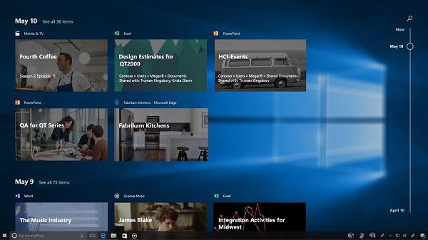 Windows 10 Fall Creators Update - Timeline
