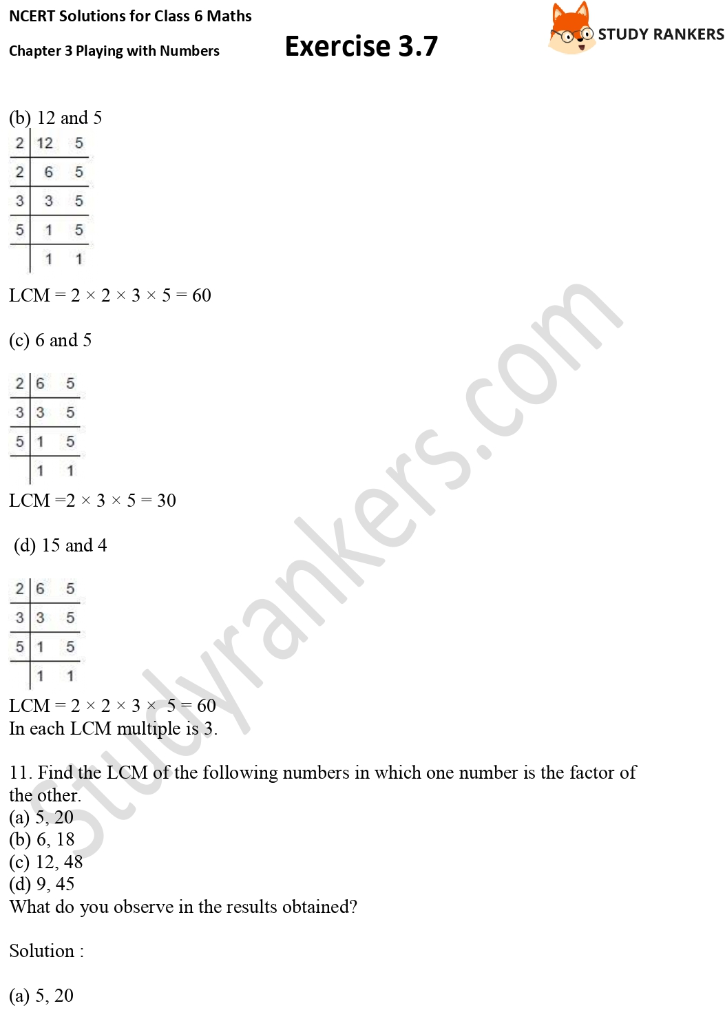 NCERT Solutions for Class 6 Maths Chapter 3 Playing with Numbers Exercise 3.7 Part 5