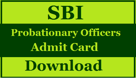 SBI PO Admit Card 2020 Download