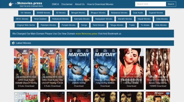 9Kmovie Hollywood Dubbed in Hindi, Bollywood Movies Download & New Domain Link