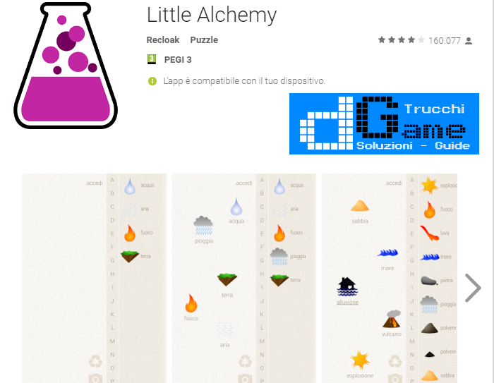 Soluzioni Little Alchemy livello  1  2  3  4  5  6  7  8  9 10 | Trucchi e  Walkthrough level