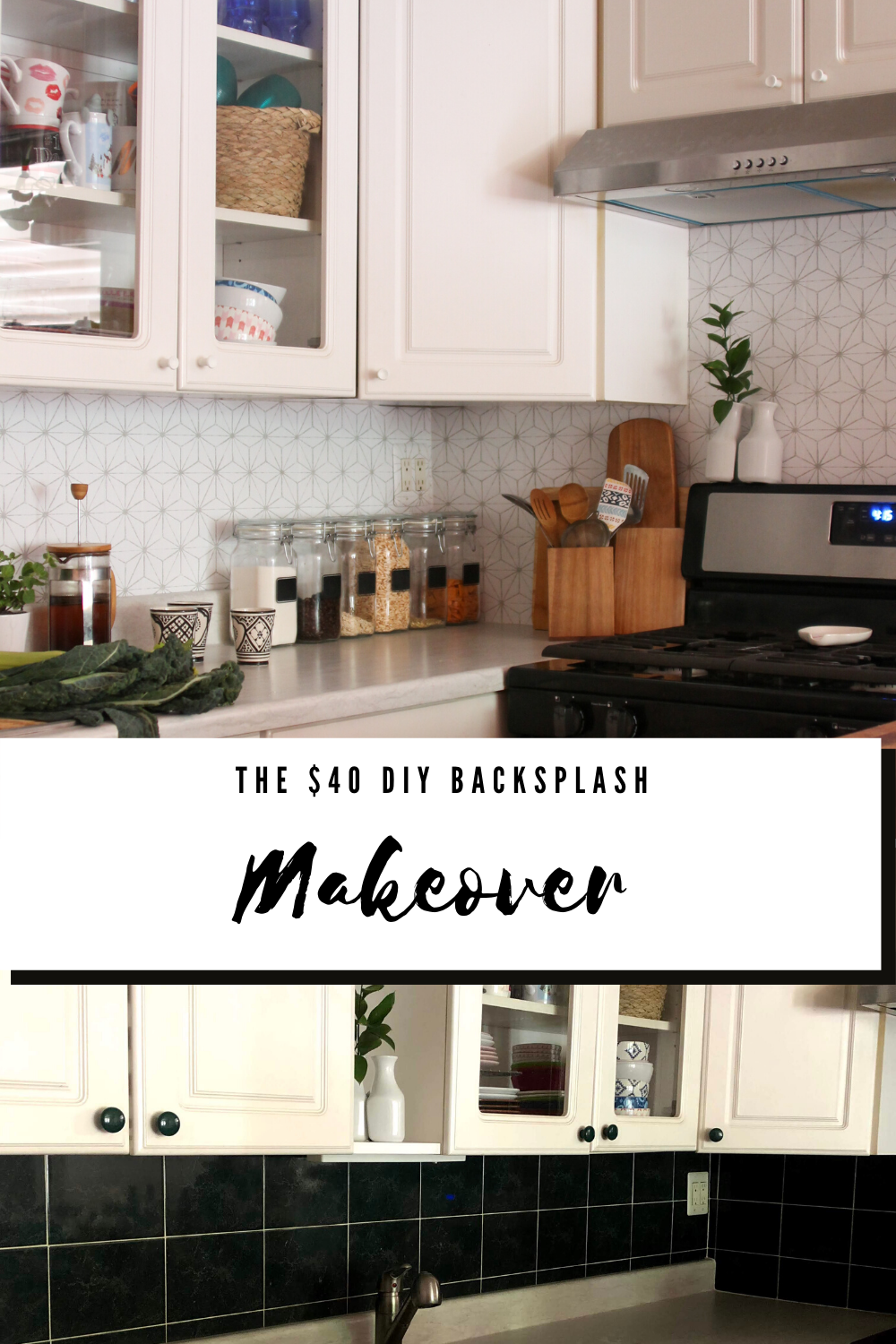 diy kitchen backsplash, kitchen backsplash diy, cheap kitchen backsplash ideas, budget friendly kitchen backsplash, kitchen Inso, kitchen hacks for renters, renter friendly kitchen projects, boho kitchens, white kitchen inspiration, kitchen inspo for renters, kitchen backsplash ideas, removable kitchen backsplash, removable wallpaper kitchen backsplash