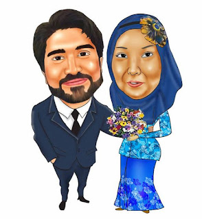 Gambar Karikatur Wedding Muslim Malaysia