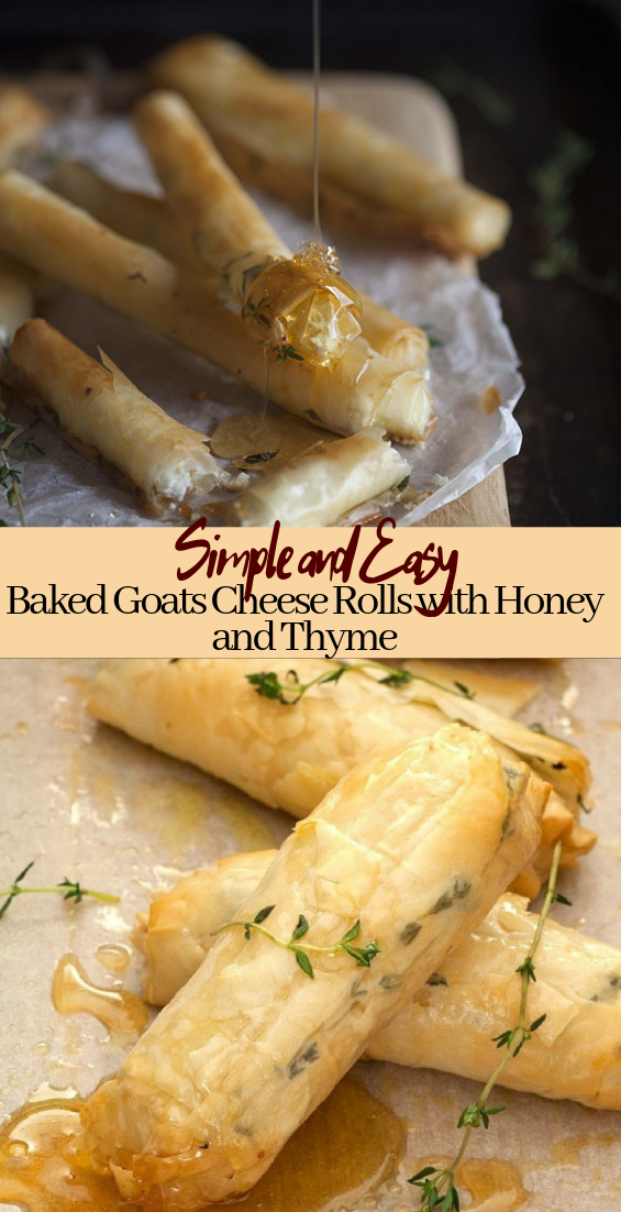 Baked Goats Cheese Rolls with Honey and Thyme #healthyfood #dietketo #breakfast #food