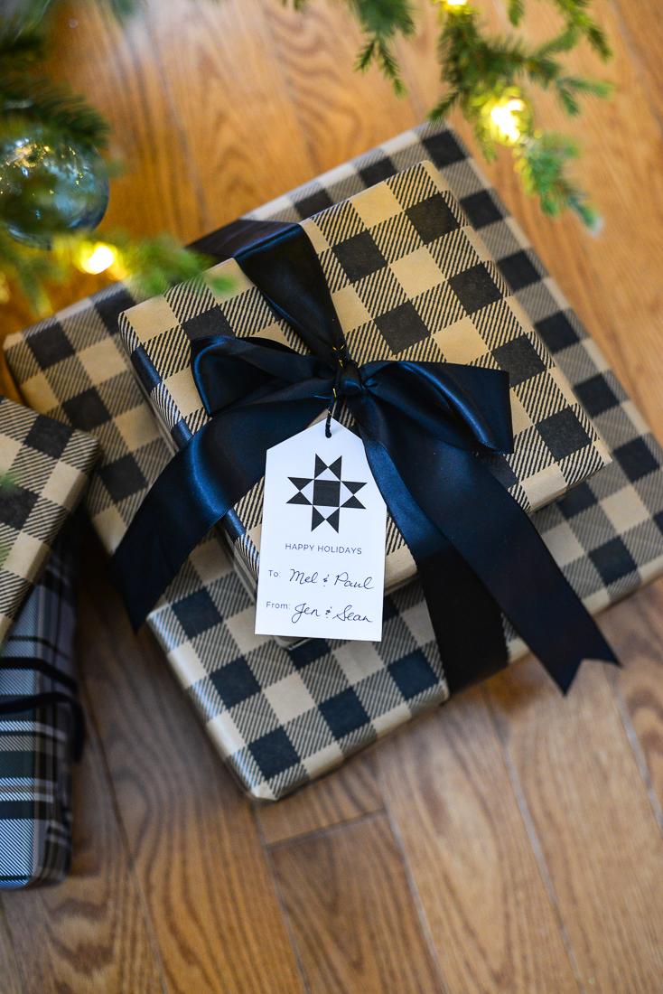 printable gift tag, modern gift tag, printable christmas gift tag
