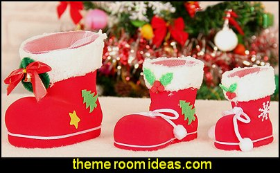 Creative Christmas Candy Gift Small Boots Christmas Tree Decoration
