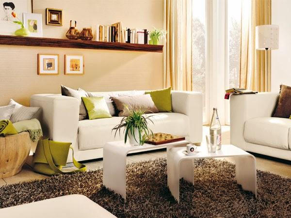 Salas color arena salas con estilo - Decoracion de sofas con cojines ...
