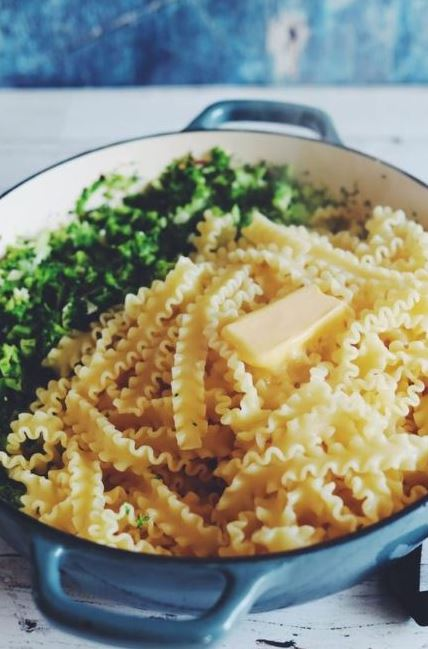 Broccoli and Garlic Pasta with Parmesan, Red Pepper Flakes + Lemon