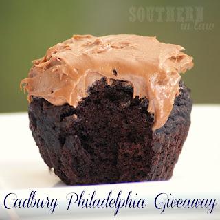 Cadbury Philadelphia Cream Cheese on Brownie