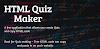 HTML Quiz Generator - HTML Code Generator
