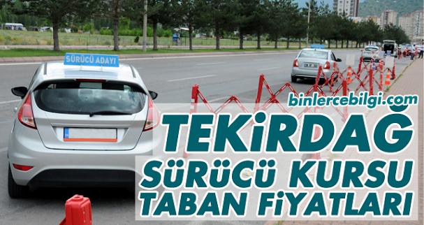 Tekirdağ Sürücü Kursu Fiyatları 2021, Tekirdağ'da sürücü kursları tarafından uygulanan ehliyet taban fiyat listesi.