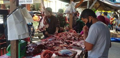 Pasca Meugang Kodim 0119/Bener Meriah Tanpau Harga Daging
