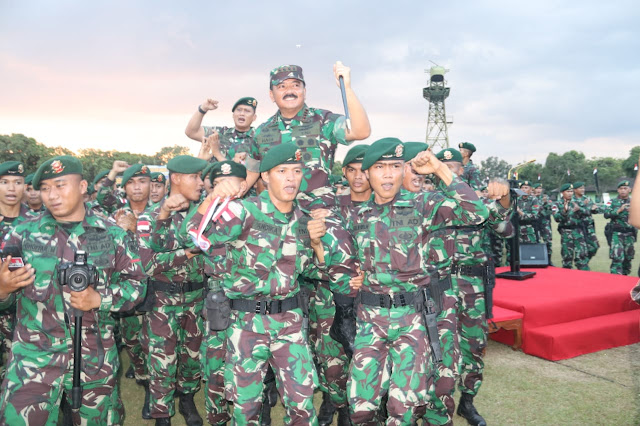 Panglima TNI Tinjau Kesiapan Prajurit Yonif Rider 509/Balawara Yudha Kostrad