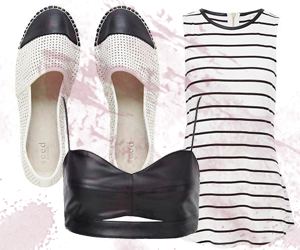 stripes and summer espadrilles