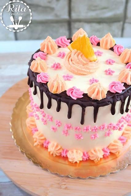 tort z kremem orange curd