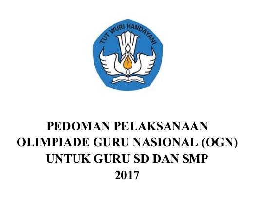 Juknis Olimpiade Guru Nasional SD dan SMP Tahun 2017