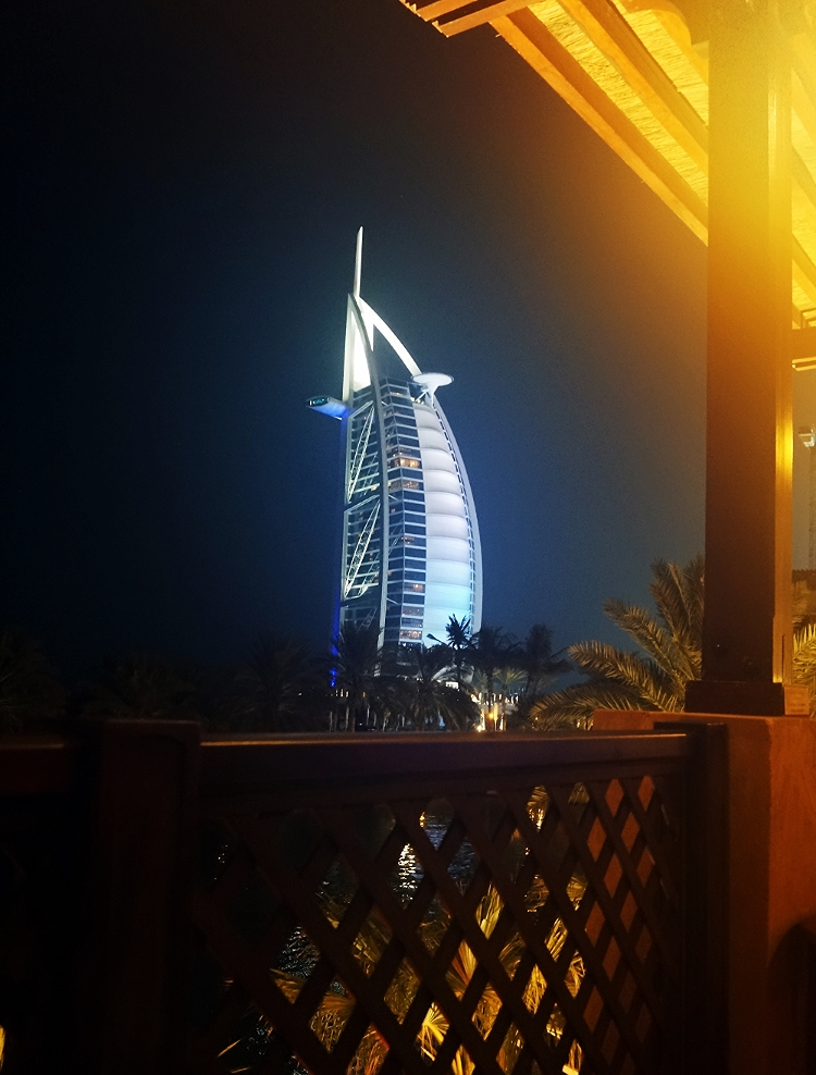 Euriental | travel trip report, Dubai. View from Bahri Bar of the Burj Al Arab.