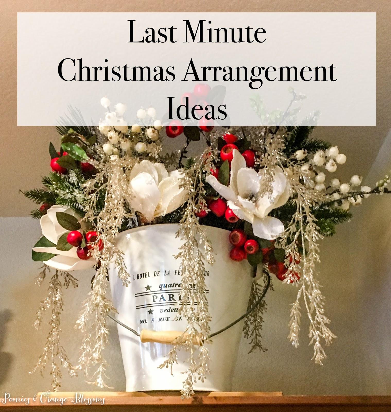 simple last minute christmas arrangements for the house