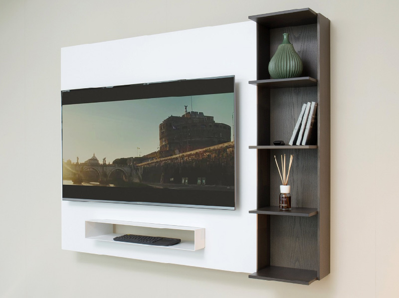 monolocale arredi indispensabili porta tv libreria
