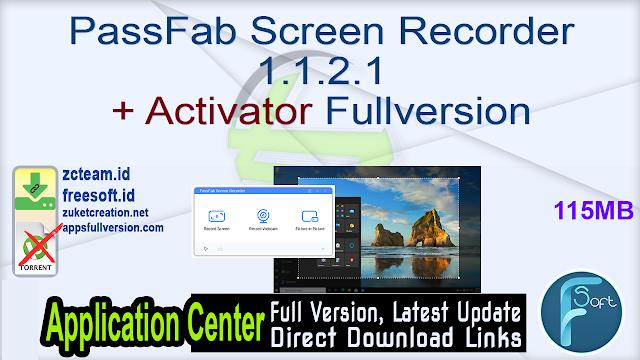 PassFab Screen Recorder 1.1.2.1 + Activator Fullversion
