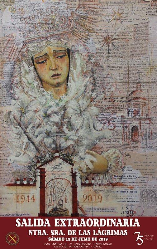 Cartel anunciador de la Salida Extraordinaria de Nuestra Señora de las Lágrimas (Sanlucar de Barrameda)