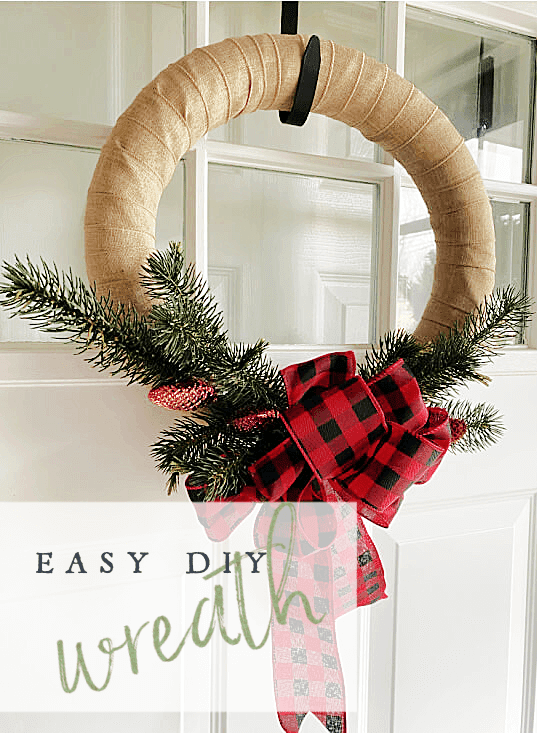 Easy Christmas wreath pin