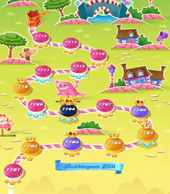 Candy Crush Saga level 7701-7715