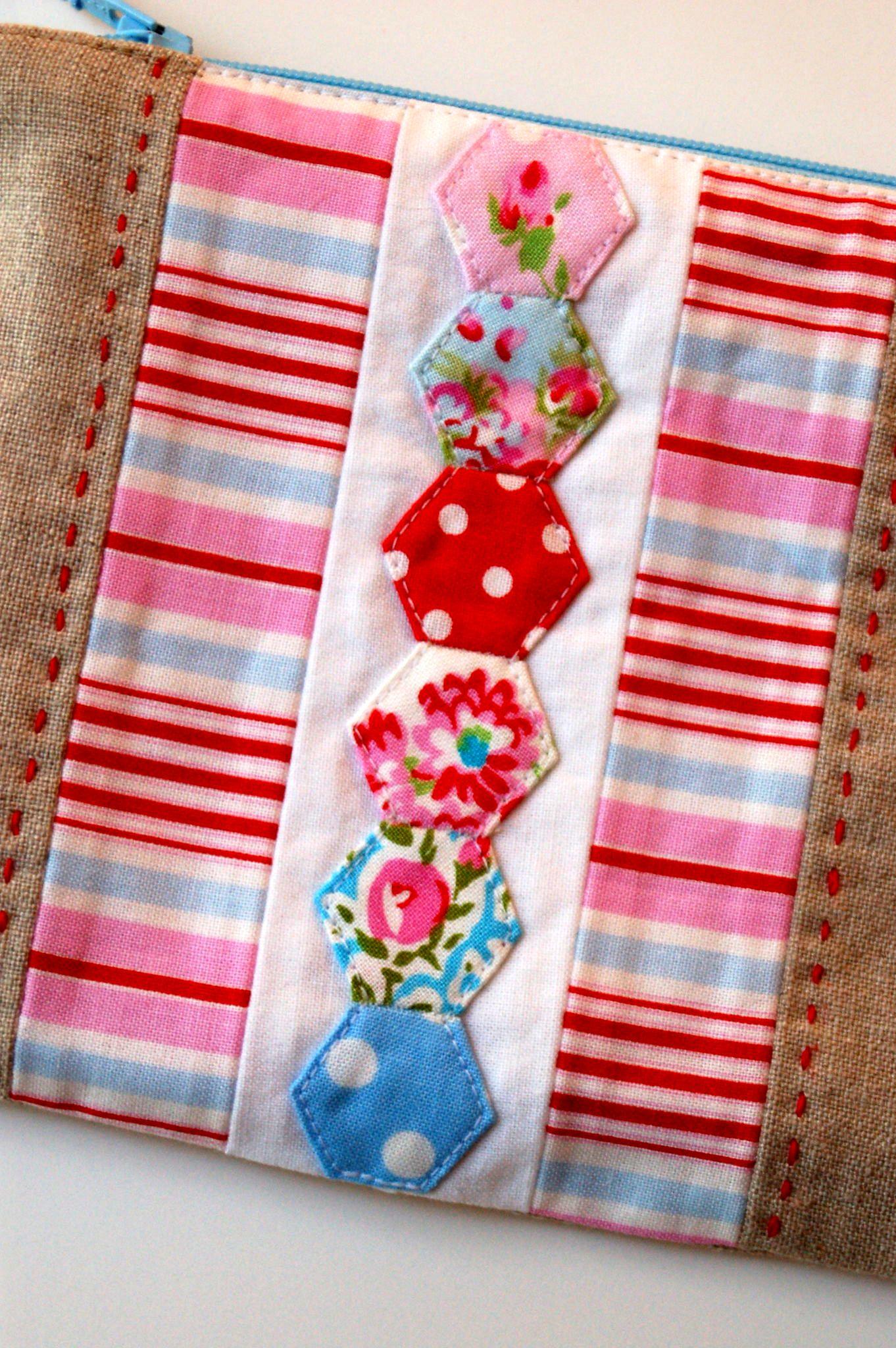 Hexagon Zipper Pouch Tutorial