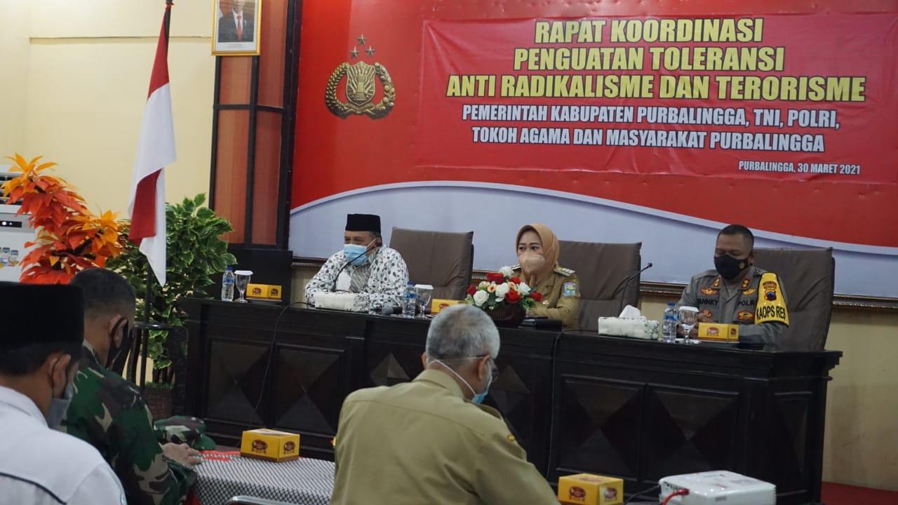 Polres Purbalingga Gelar Rapat Koordinasi Penguatan Toleransi dan Terorisme