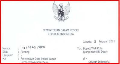 Surat Permintaan Data Pokok BPD