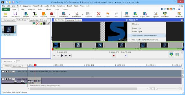 تحميل برنامج تحرير الفيديو للكمبيوتر VideoPad Video Editor 4.33 Beta