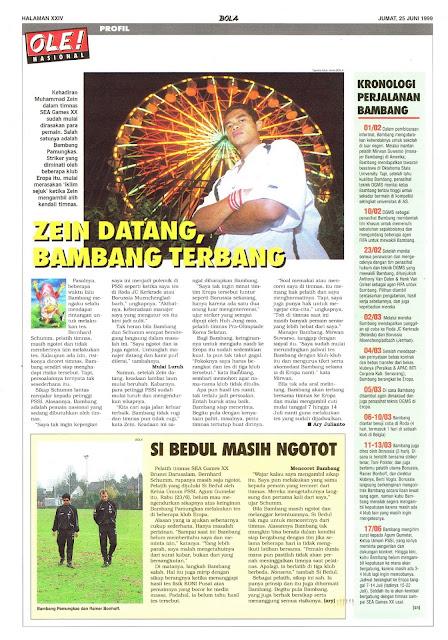 SEPAKBOLA INDONESIA ZEIN DATANG, BAMBANG TERBANG