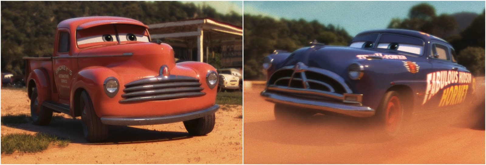 Cars 3: Heyday Smokey & Dirt Track Fabulous Hudson Hornet 2-Pack