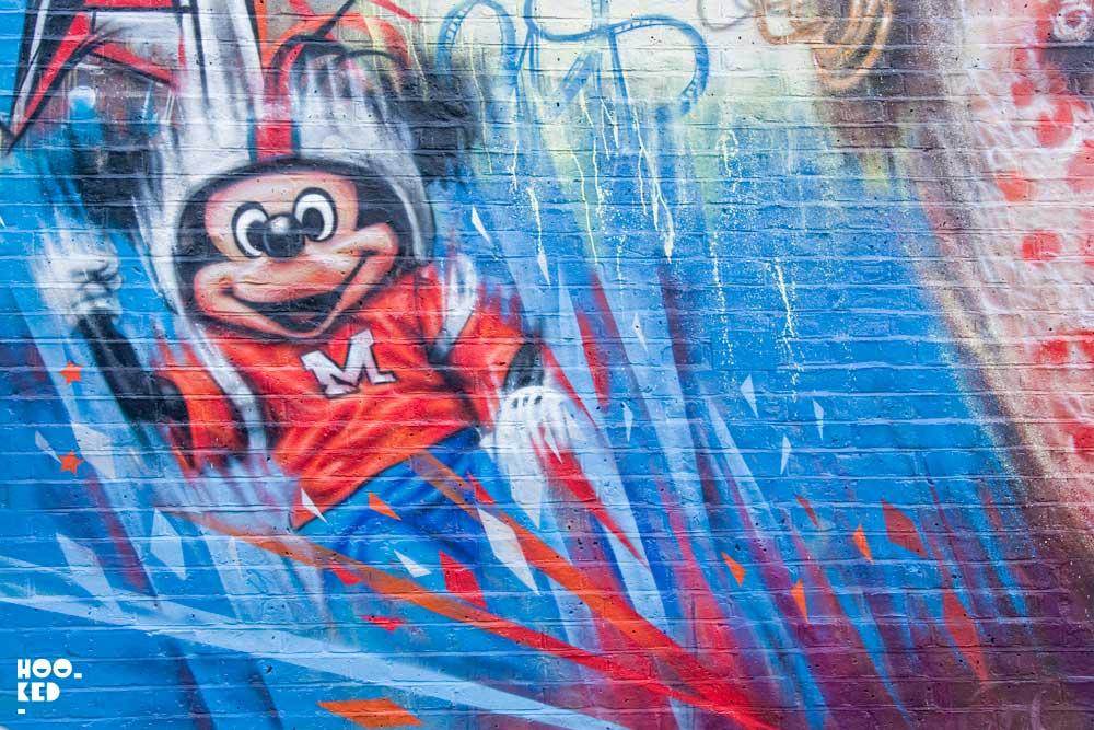 English Street Artist Dale Grimshaw's Wonderland Mural in London