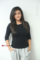Telugu Actress Mishti Chakraborty Latest Pos in Black Top at Smile Pictures Production No 1 Movie Opening  0052.JPG