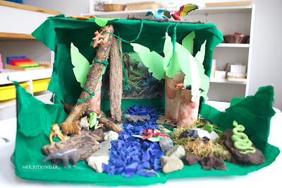 Regenwald Diorama Montessori Kosmische Erziehung