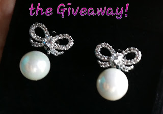 orrous collection giveaway bow earrings