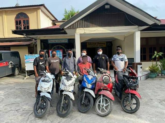 Tim Charli Polresta Jayapura Bekuk Seorang Residivis Curanmor, 5 Motor Hasil Curian Diamankan