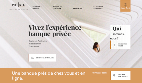 Accueil Milleis Banque