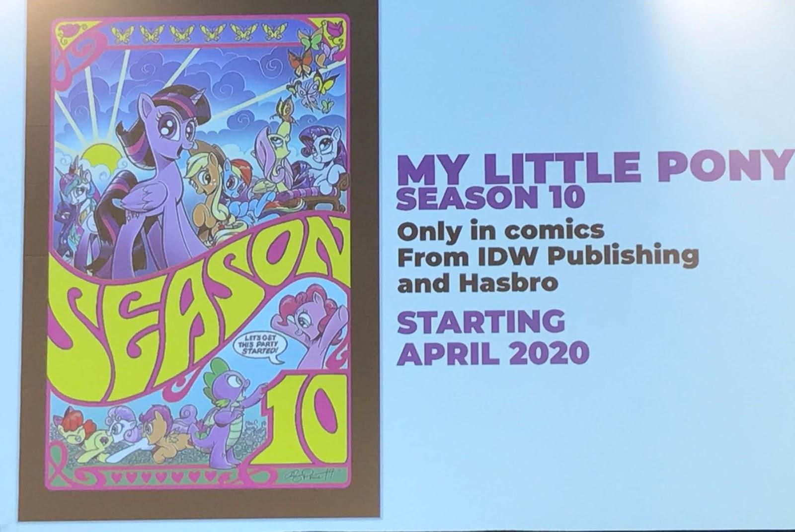 Equestria Daily Mlp Stuff Idw My Little Pony Season 10 Comic Series Announced