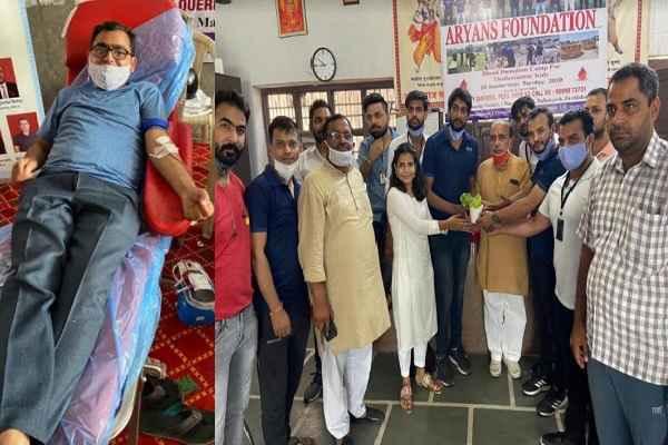 aryans-foundation-blood-donation-camp-ballabhgarh-faridabad