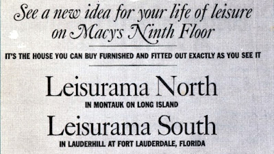 Leisurama Macy's ad @ Sears Homes of Chicagoland