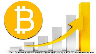 Курс биткойна может достичь $42 000 уже в 2019 году и $356 000 еще через два года