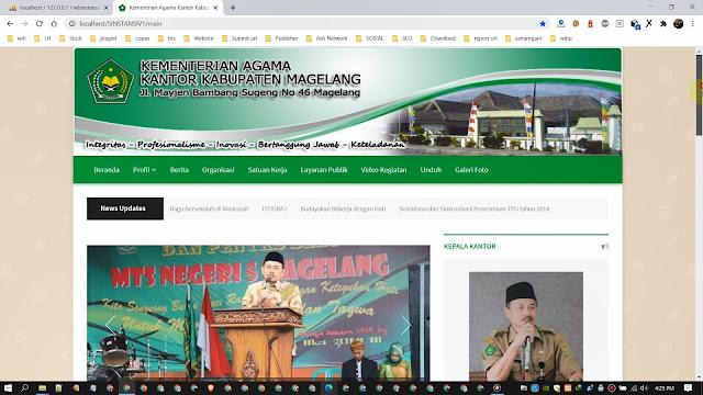 Website dan CMS Portal Informasi Instansi Keagamaan v1
