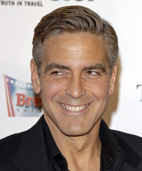mens popular haircuts all abot george clooney obama fundraiser 1379 | 1379 George Clooney