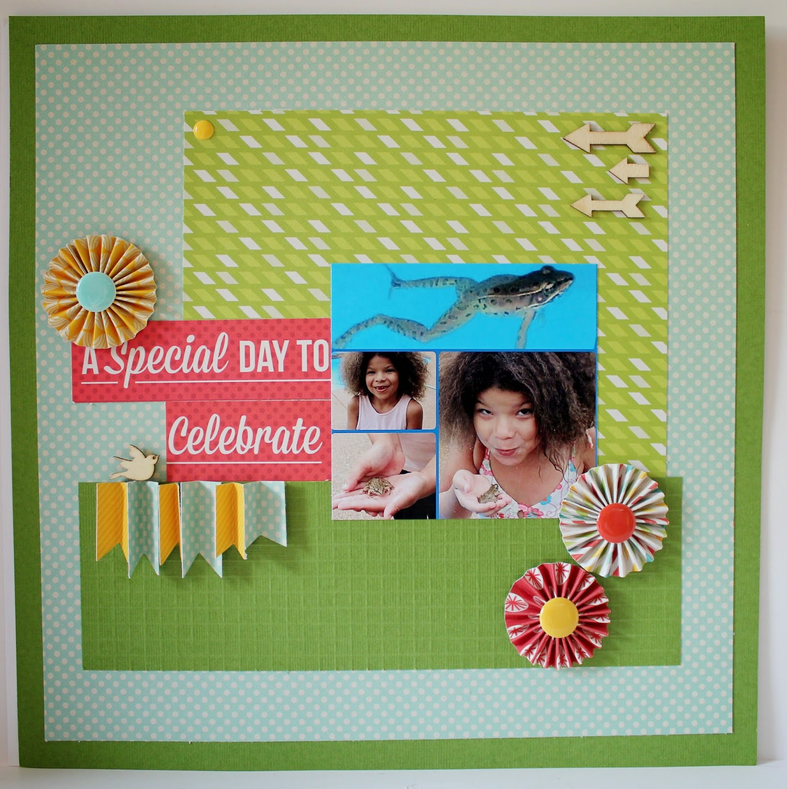 Scrapbook Flair: Pam Bray Designs: A Special Day To Celebrate with We R Memory Keepers Trim and ...