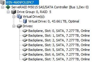 Storage RAID 7x Seagate Skyhawk 8TB