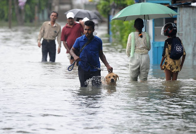 Several parts of Colombo were submerged due to floods