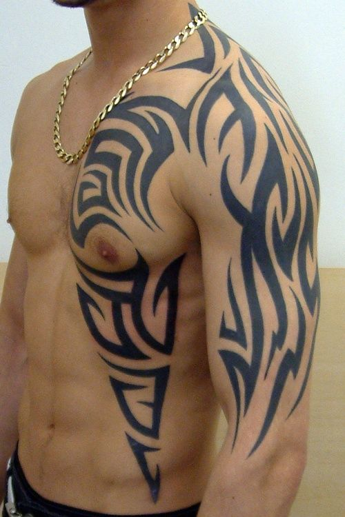 Tribal Rib Tattoos