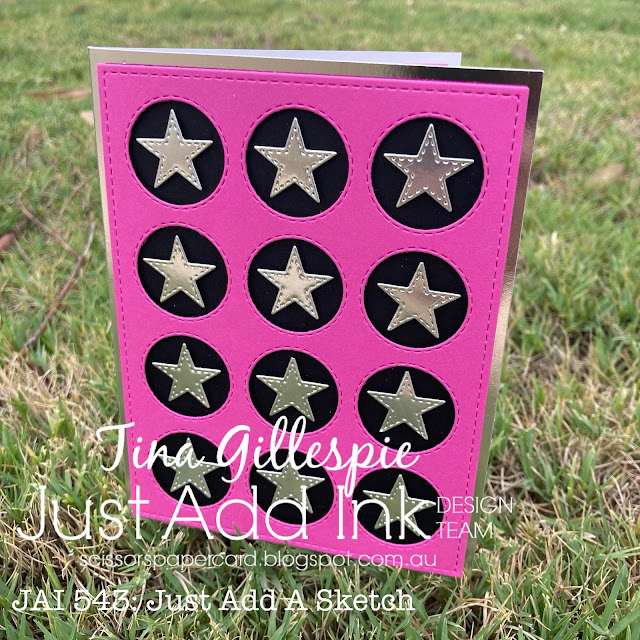 scissorspapercard, Stampin' Up!, Just Add Ink, Uniquely Creative, Circle Coverplate Die, Stitched Stars Dies, Labeler Alphabet
